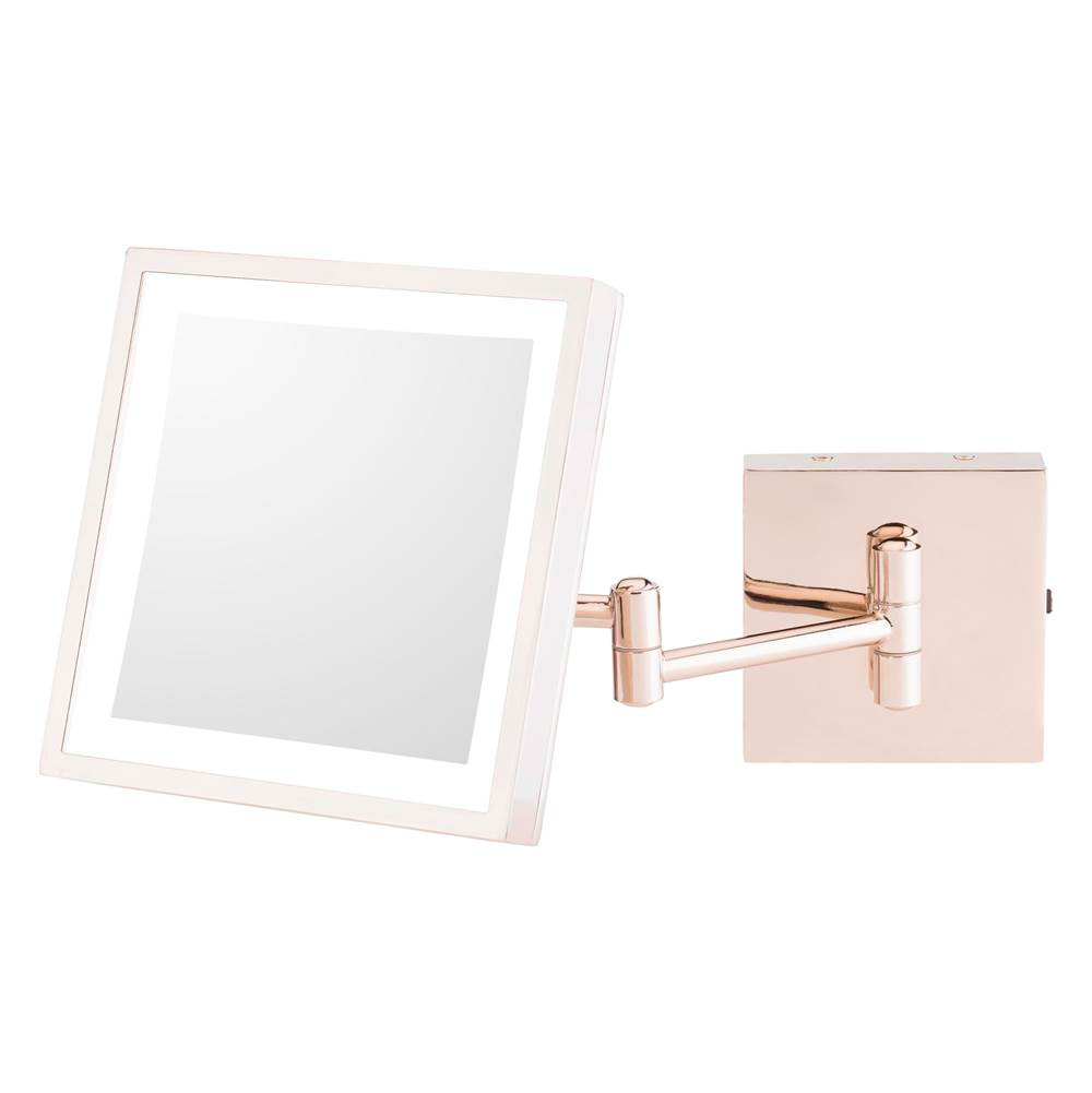 Aptations Single-Sided Led Square Wall Mirror - Rechargeable