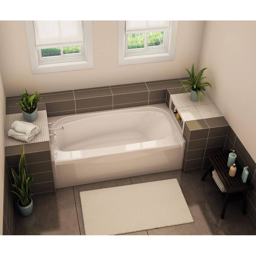 Aker TOF-3260 AFR 59.75 in. x 32 in. Rectangular Alcove Bathtub with Right Drain in Thunder Grey
