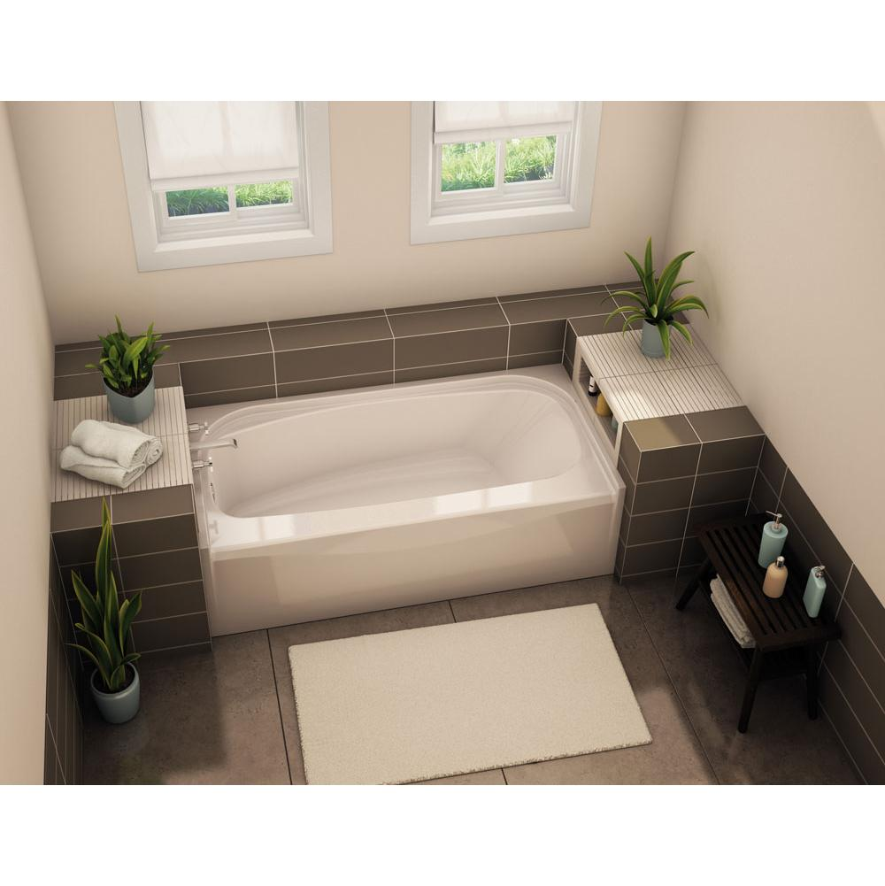 Aker TOF-3060 AFR 59.75 in. x 29.875 in. Rectangular Alcove Bathtub with Left Drain in White