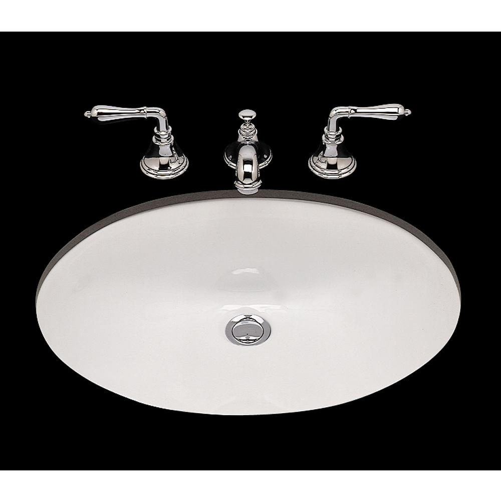Bates And Bates Doreen, Single Glazed Large Oval Lavatory Plain Bowl, Offset Drain, Overflow, Undermount Only