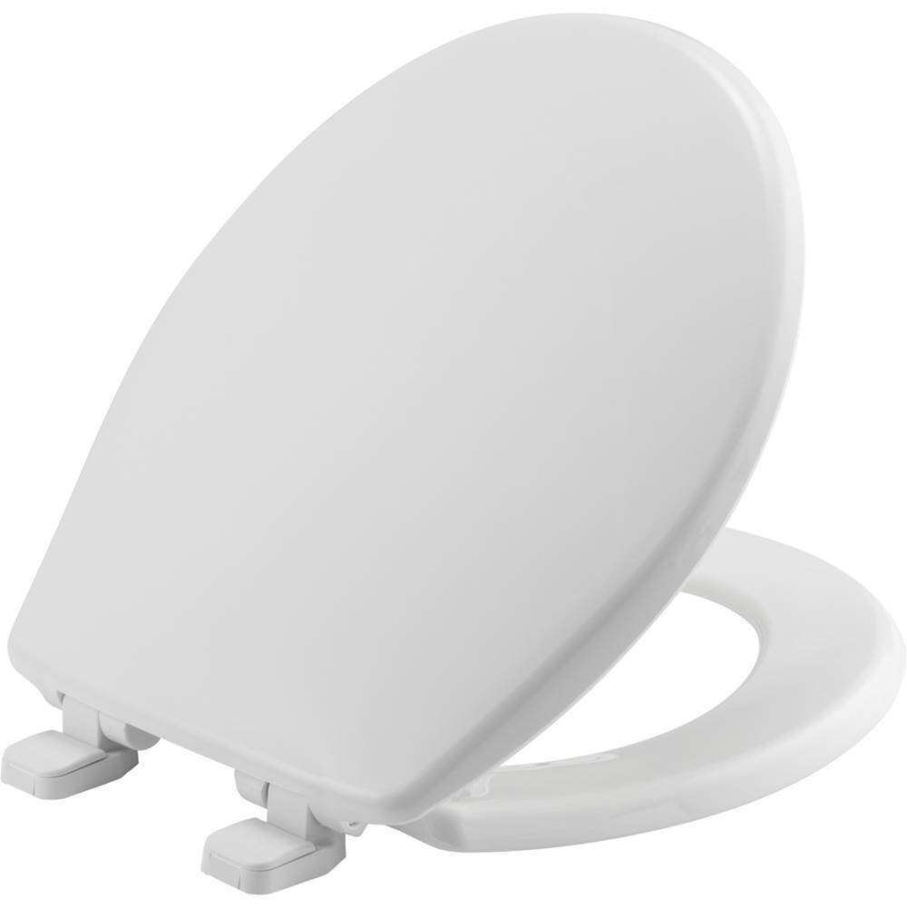 Bemis 1955CTJ 000 Just-Lift Elongated Open Front Toilet Seat White