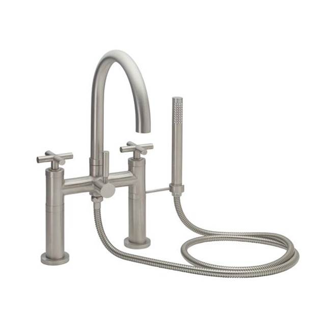 California Faucets Contemporary Deck Mount Tub Filler