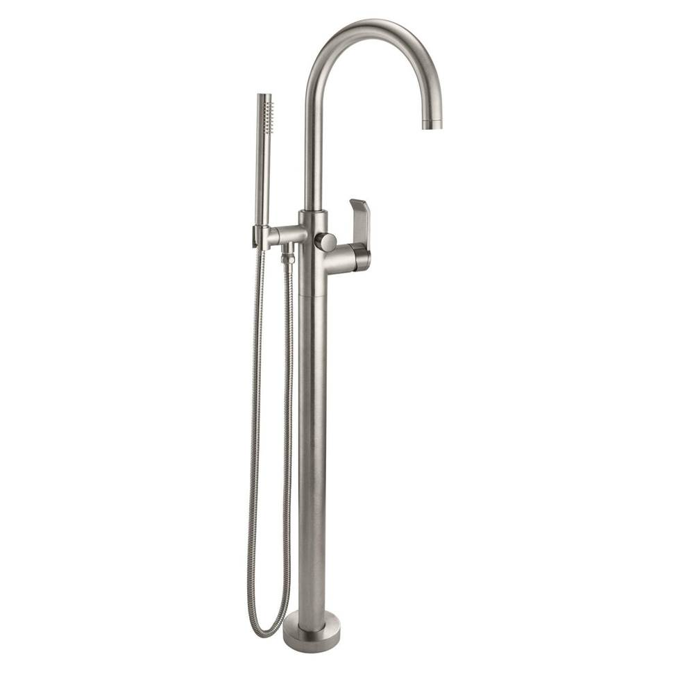 California Faucets Contemporary Single Hole Floor Mount Tub Filler - Arc Spout