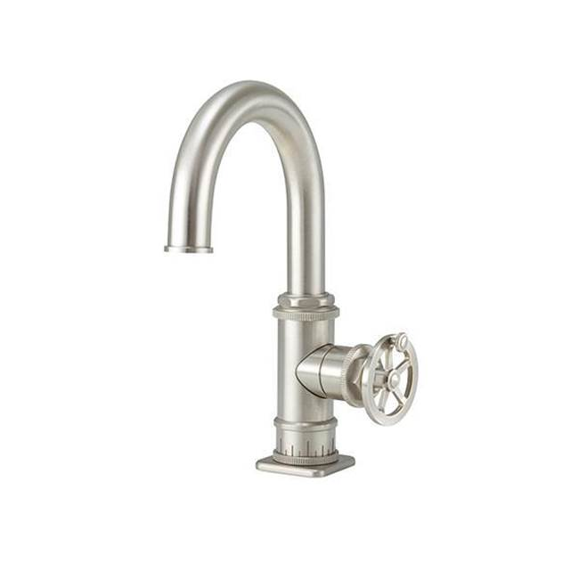 California Faucets Single Hole High Spout Lavatory/Prep/Bar Faucet - Wheel Handle