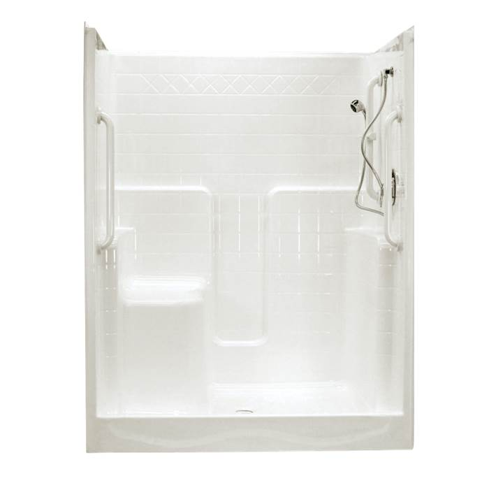 Clarion Bathware 60'' Tiled Shower W/ 7'' Threshold - Center Drain