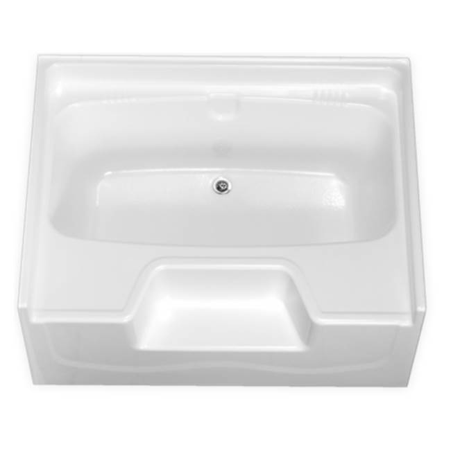 Clarion Bathware 54'' Garden Tub W/ 19.5'' Apron - Rear Center Drain