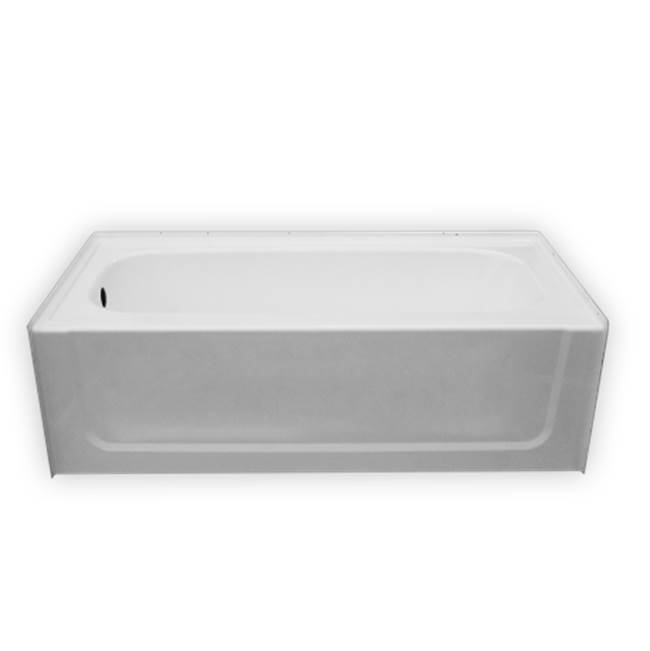 Clarion Bathware 60'' Tub W/ 19 1/2'' Apron - Left Or Right Hand Drain