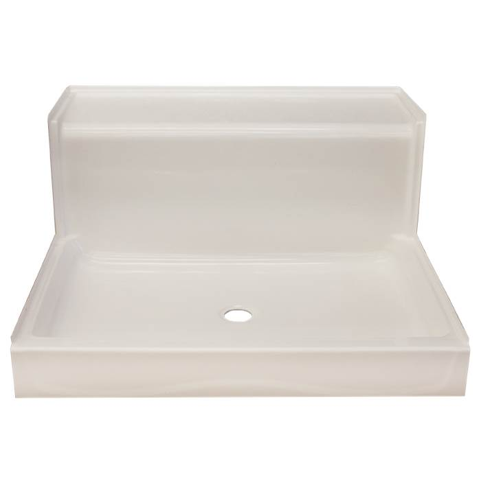 Clarion Bathware 48'' X 48'' Corner Shower Base W/ Two 6'' Thresholds - Center Drain