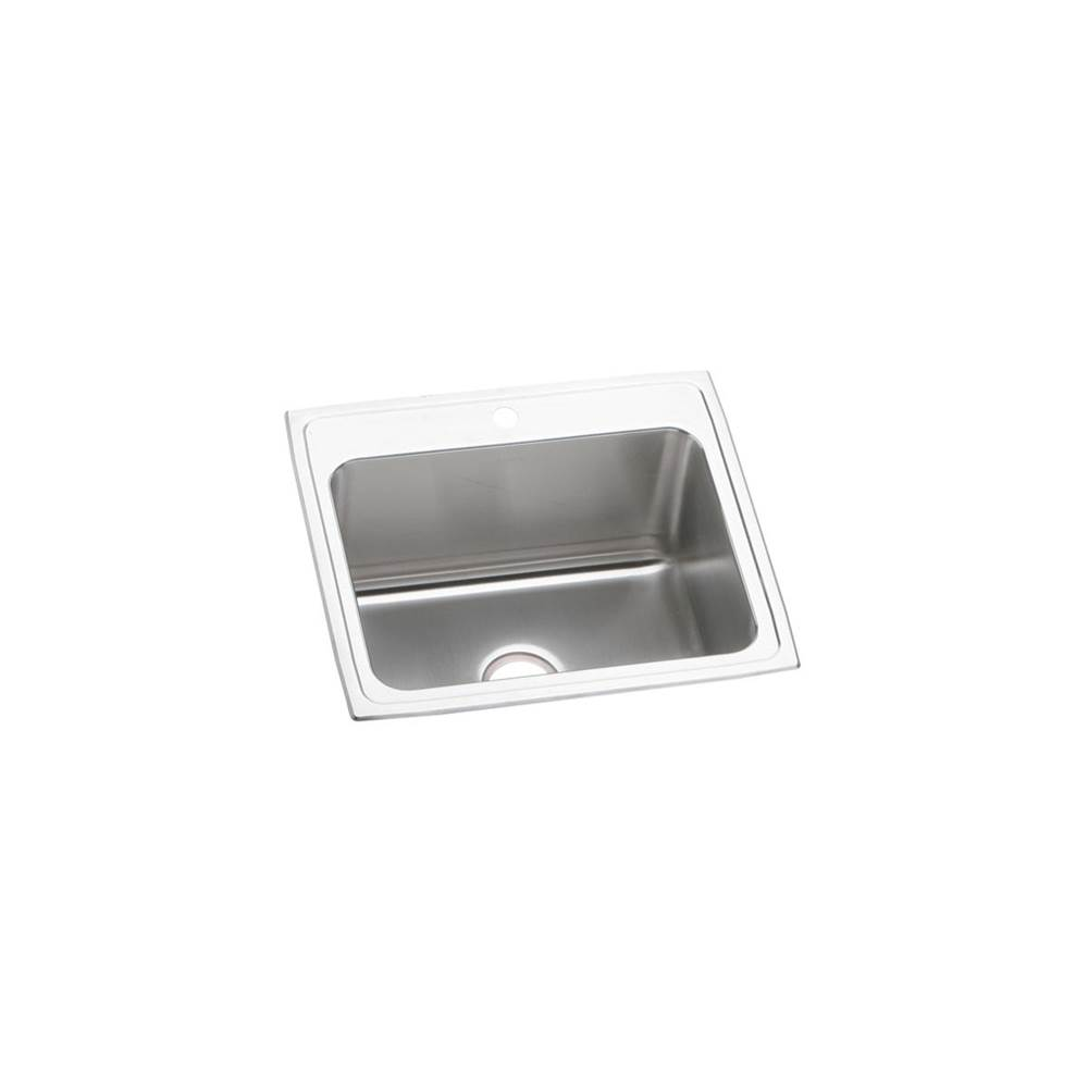 Elkay Elkay Lustertone Classic Stainless Steel 25'' x 21-1/4'' x 10-1/8'', Single Bowl Drop-in Sink