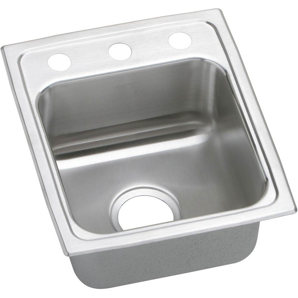 Elkay 18 Gauge Stainless Steel 13'' X 16'' X 7.625'' Single Bowl Top Mount Kitchen Sink