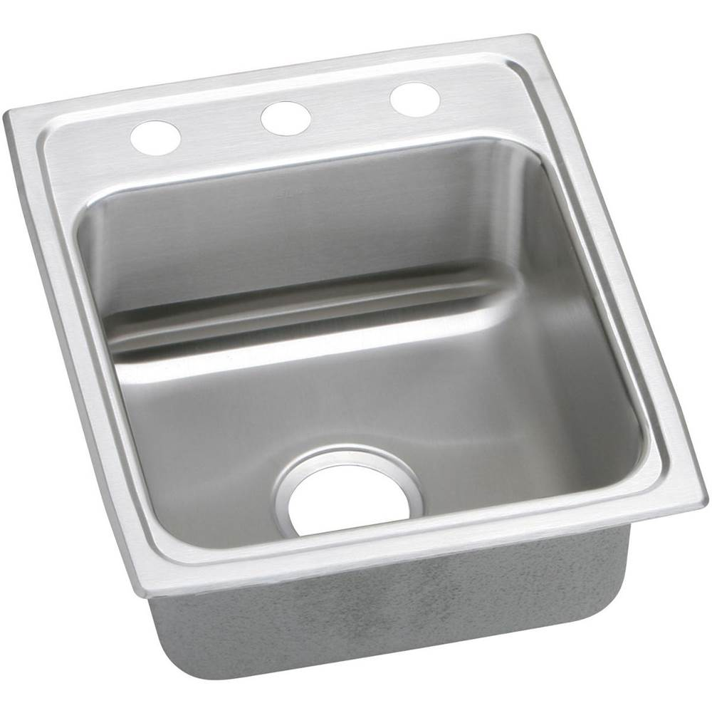 Elkay Elkay Lustertone Classic Stainless Steel 17'' x 20'' x 6'', Single Bowl Drop-in ADA Sink