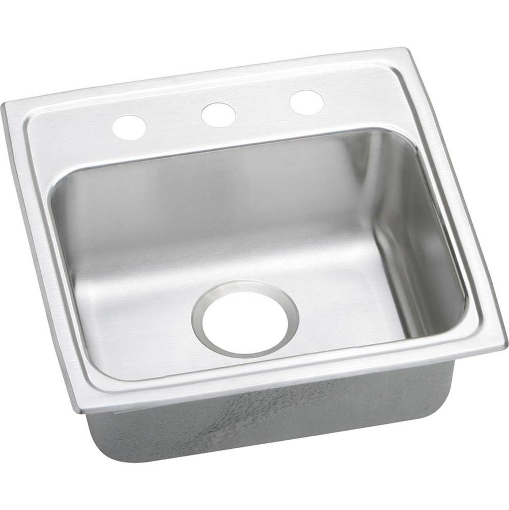 Elkay Elkay Lustertone Classic Stainless Steel 19'' x 18'' x 6-1/2'', Single Bowl Drop-in ADA Sink