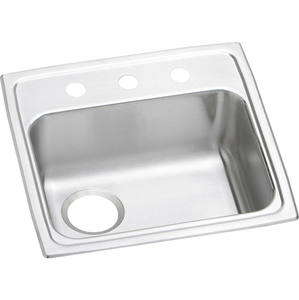 Elkay Elkay Lustertone Stainless Steel 19'' x 18'' x 5-1/2'', Single Bowl Top Mount ADA Sink