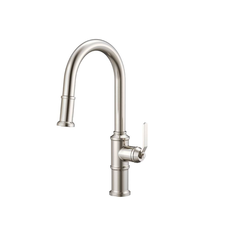Gerber Plumbing Kinzie 1H Pull-Down Kitchen Faucet with Snapback Retraction 1.75 gpm Stainless Steel