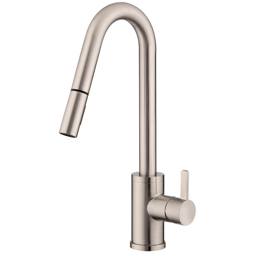 Gerber Plumbing Amalfi 1H Pull-Down Kitchen Faucet w/SnapBack Retraction 1.75gpm Stainless Steel