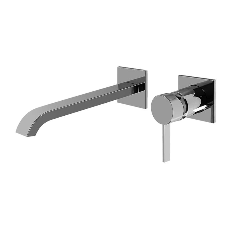 Graff Qubic Tre Wall-Mounted Lavatory Faucet w/Single Handle - Trim Only