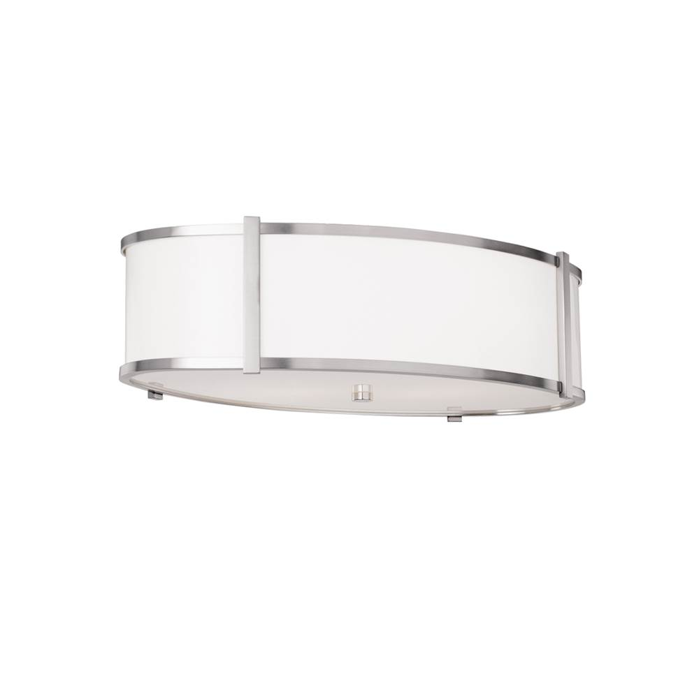 Ilex Hatbox Oval 16'' Flush Mount