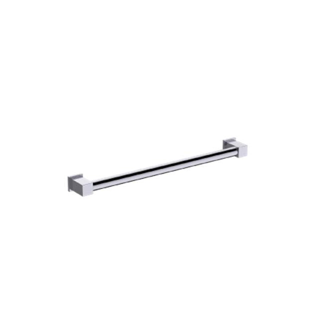 Kartners Round Grab Bar w/ Square Ends 24''- Oil Rubbed Bronze