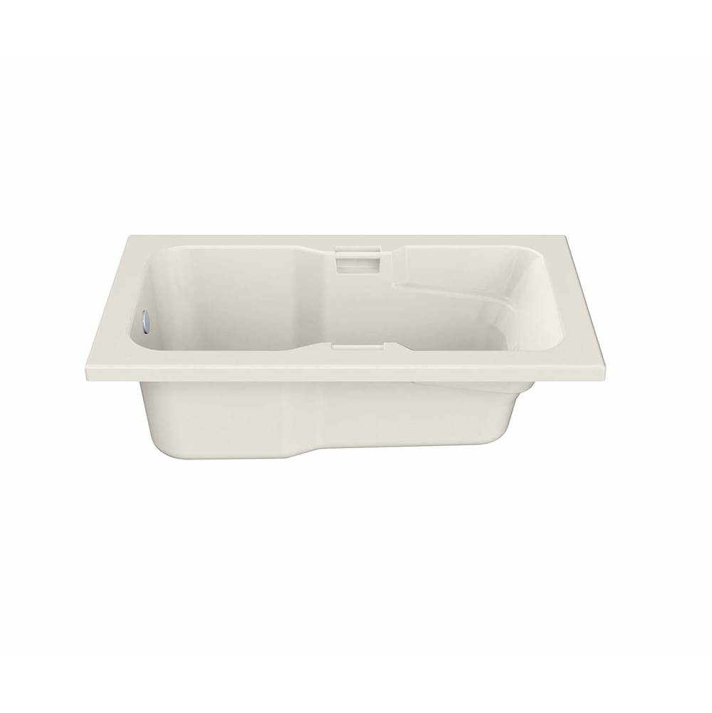 Maax Lopez 71.625 in. x 36.125 in. Alcove Bathtub with Whirlpool System End Drain in Biscuit