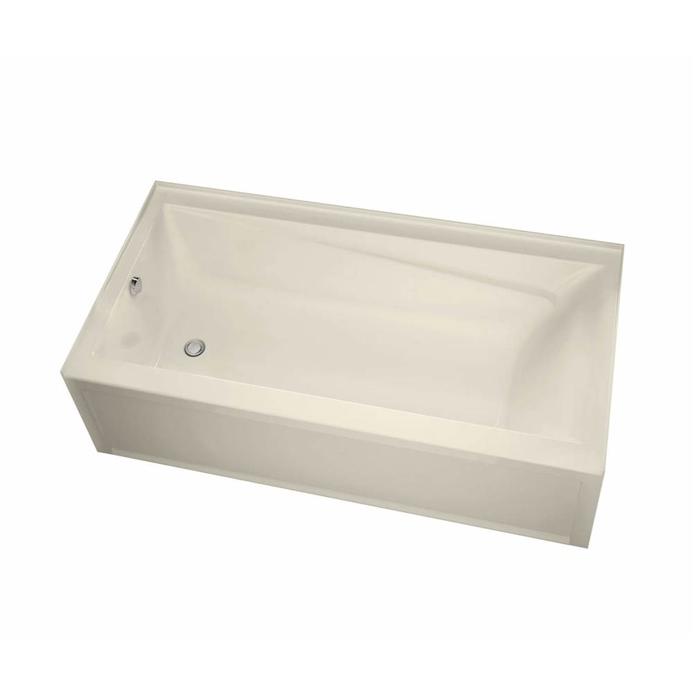 Maax Exhibit IFS AFR 71.875 in. x 32 in. Alcove Bathtub with Left Drain in Bone