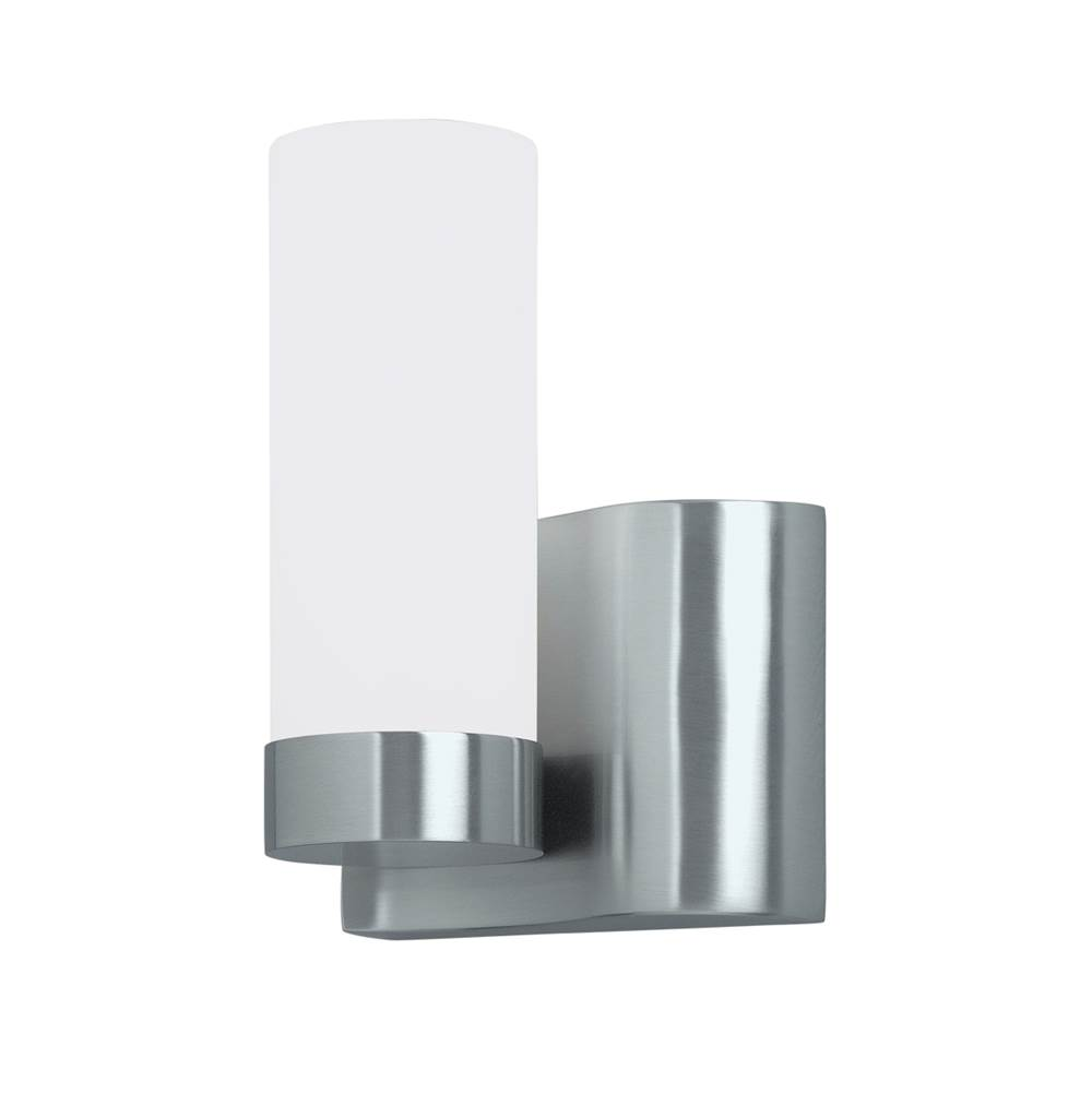 Norwell One Light Nickel Wall Light