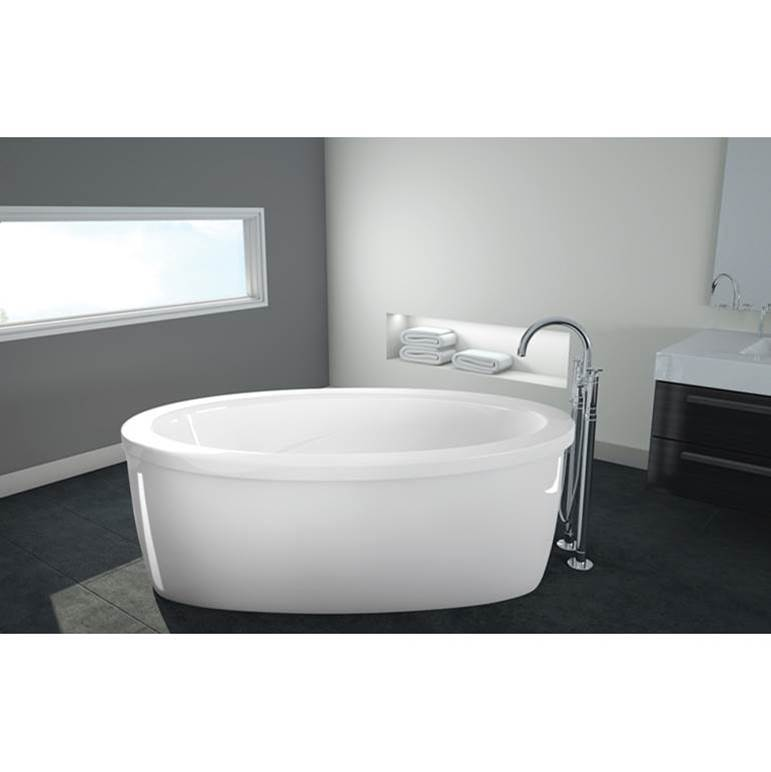 Oceania Baths Rose 65 Freestanding, AeroMassage, white
