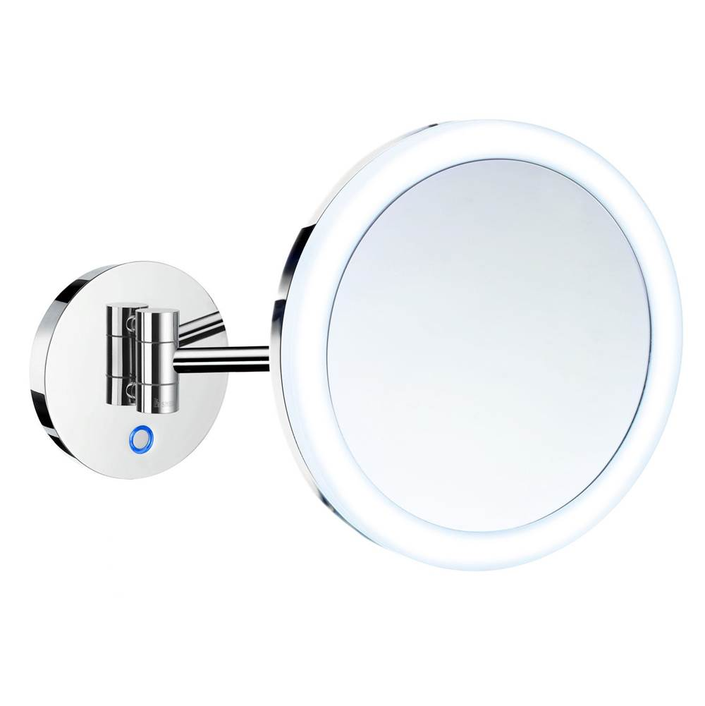 Smedbo SHAVING/MAKE UP BATTERY MIRROR WALLMOUNT 5X MAGNIFICATION LED LIGHT WARM/COOL