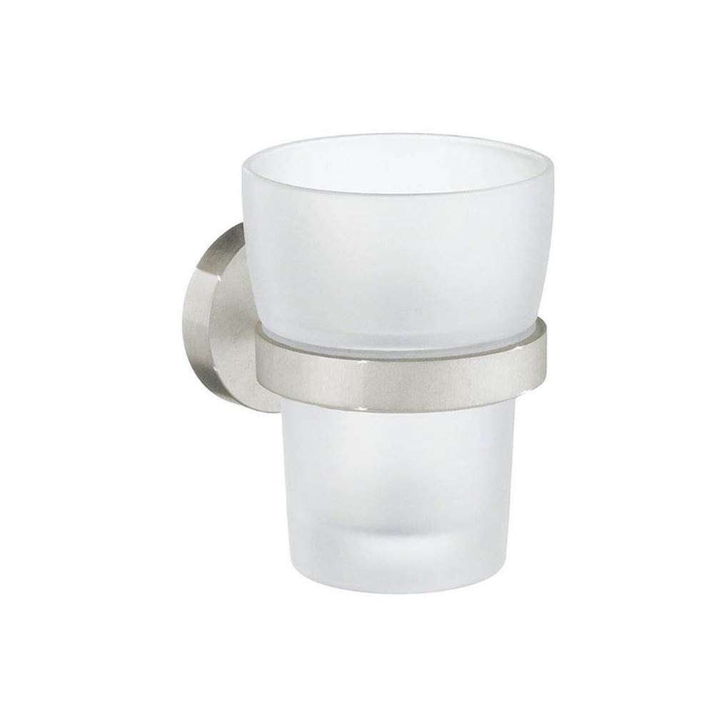 Smedbo Home Holder W/ Frosted Glass Tumbler