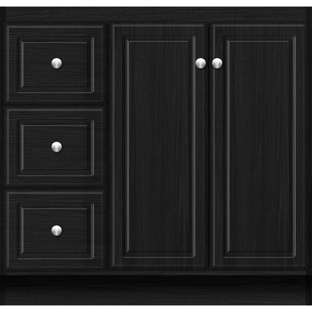 Strasser Woodenwork 36 x 18 x 34.5 MONTLAKE VIEW VANITY ULTRA MIDNIGHT OAK LH