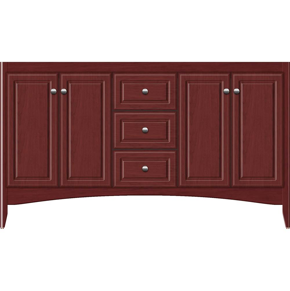 Strasser Woodenwork 60 X 18 X 34.5 Wallingford View Vanity Ultra Dk Cherry Db
