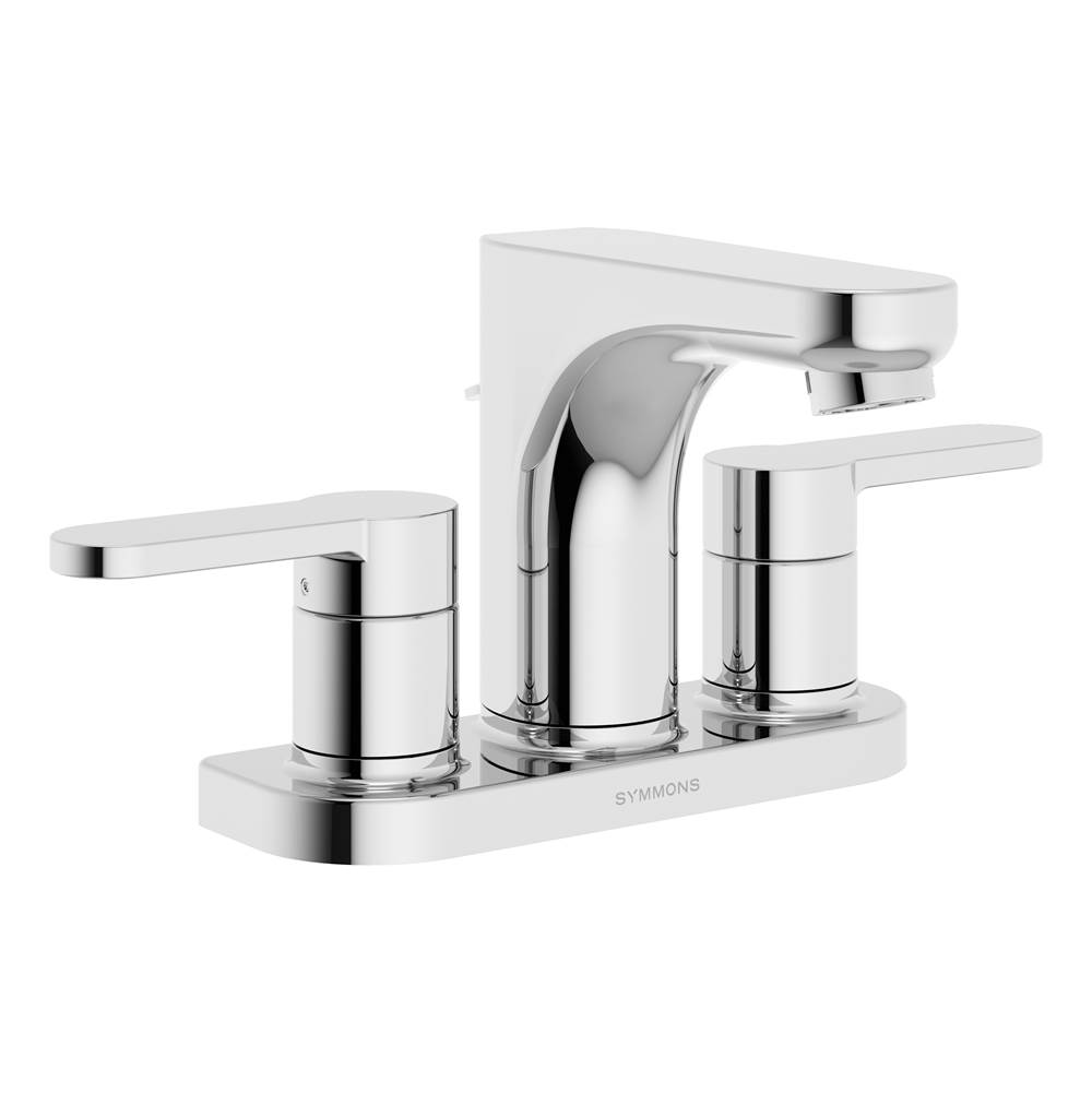Symmons Identity 4 in. Centerset 2-Handle Bathroom Faucet with Drain Assembly in Polished Chrome (1.0 GPM)