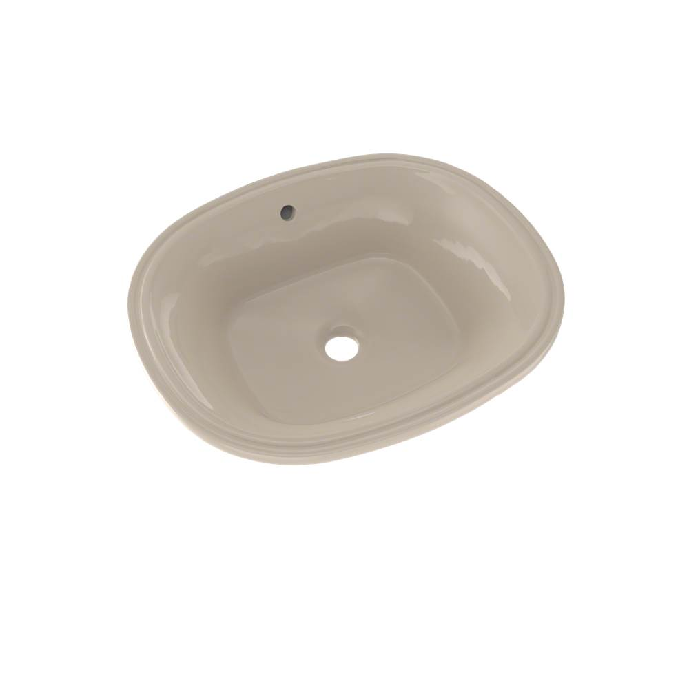 Toto Maris™ 17-5/8'' x 14-9/16'' Oval Undermount Bathroom Sink with CEFIONTECT, Bone