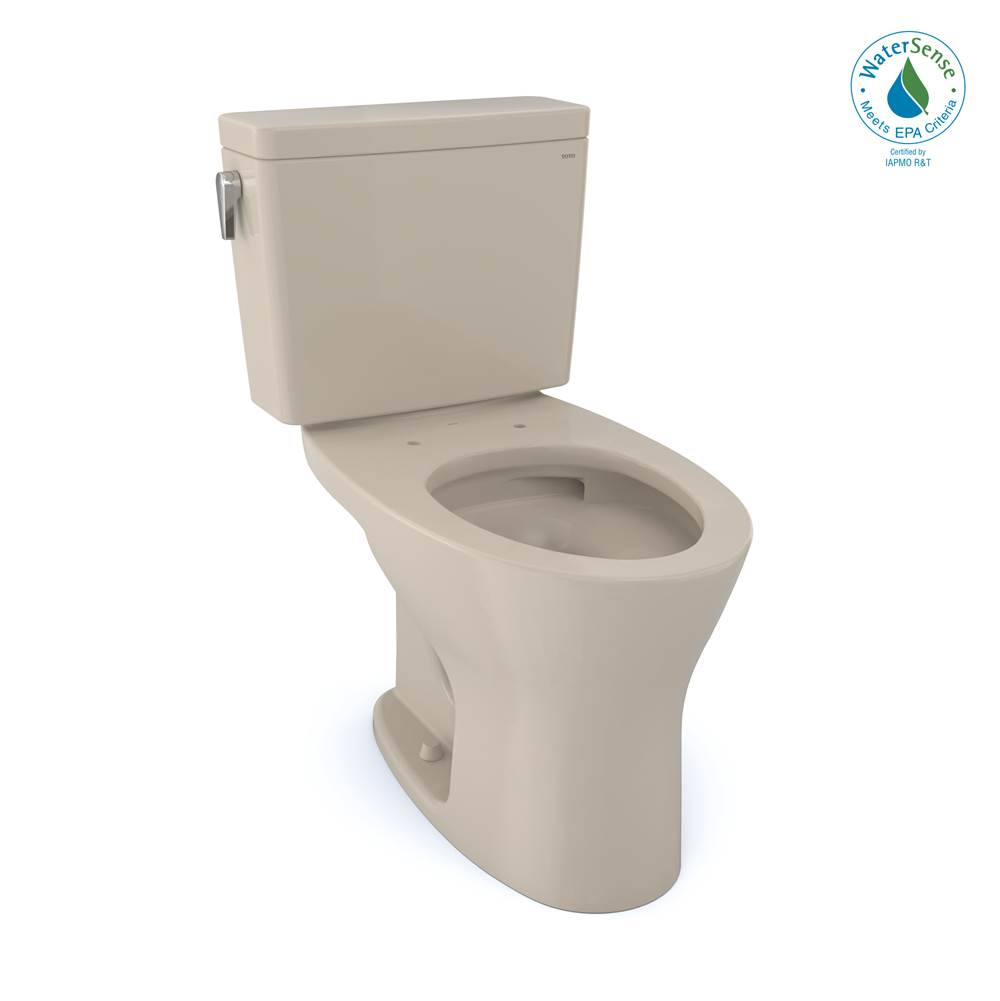 Toto Drake® 1G® Two-Piece Elongated Dual Flush 1.0 and 0.8 GPF DYNAMAX TORNADO FLUSH® Toilet with CEFIONTECT®, Bone