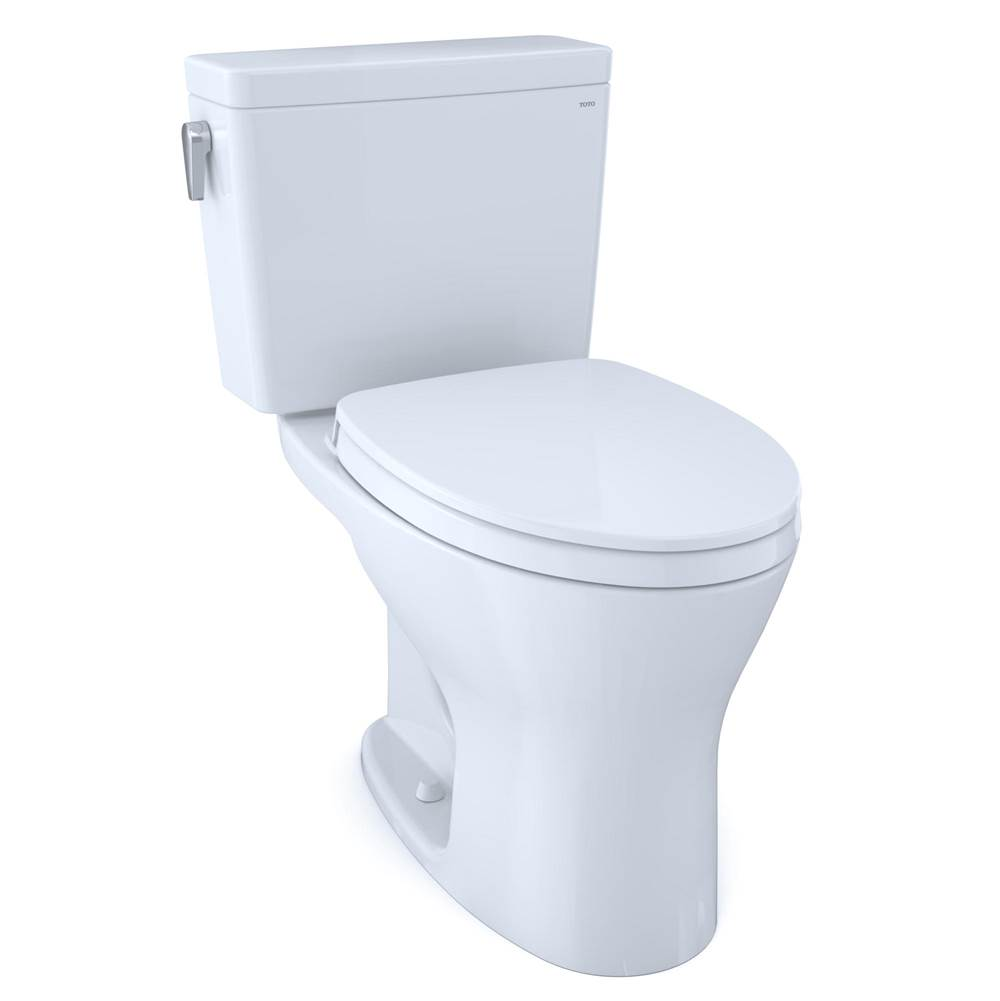 Toto Drake® Two-Piece EL Dual Flush 1.6, 0.8 GPF Unv. Height DYNAMAX TORNADO FLUSH® Toilet for 10'' Rough-In with CEFIONTECT®, SoftClose Seat,