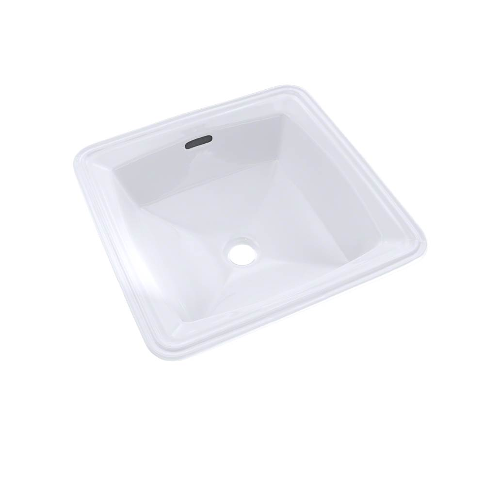 Toto Connelly™ Square Undermount Bathroom Sink with CEFIONTECT, Cotton White